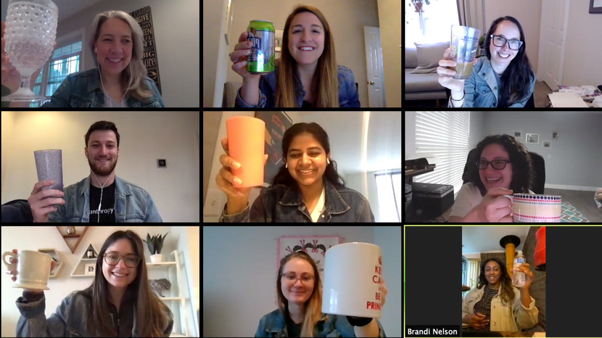 LAI Marketing team engaged during virtual meeting