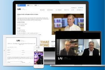 LAI virtual events with speaker in webinar on multiple devices