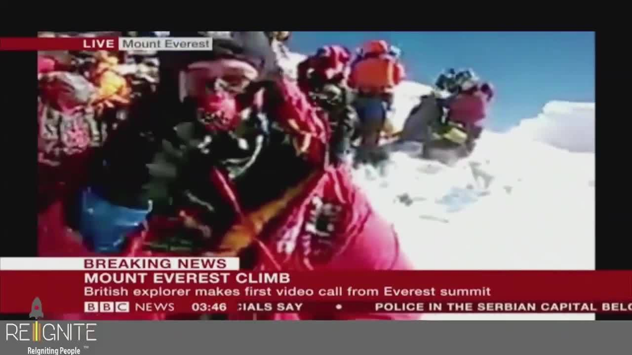 Daniel Hughes: Live Broadcast from Top Mount Everest