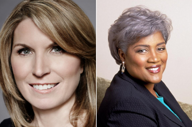 Nicolle Wallace and Donna Brazile
