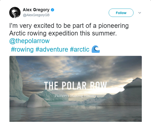 "Alex Gregory Announces His ""Polar Row"""